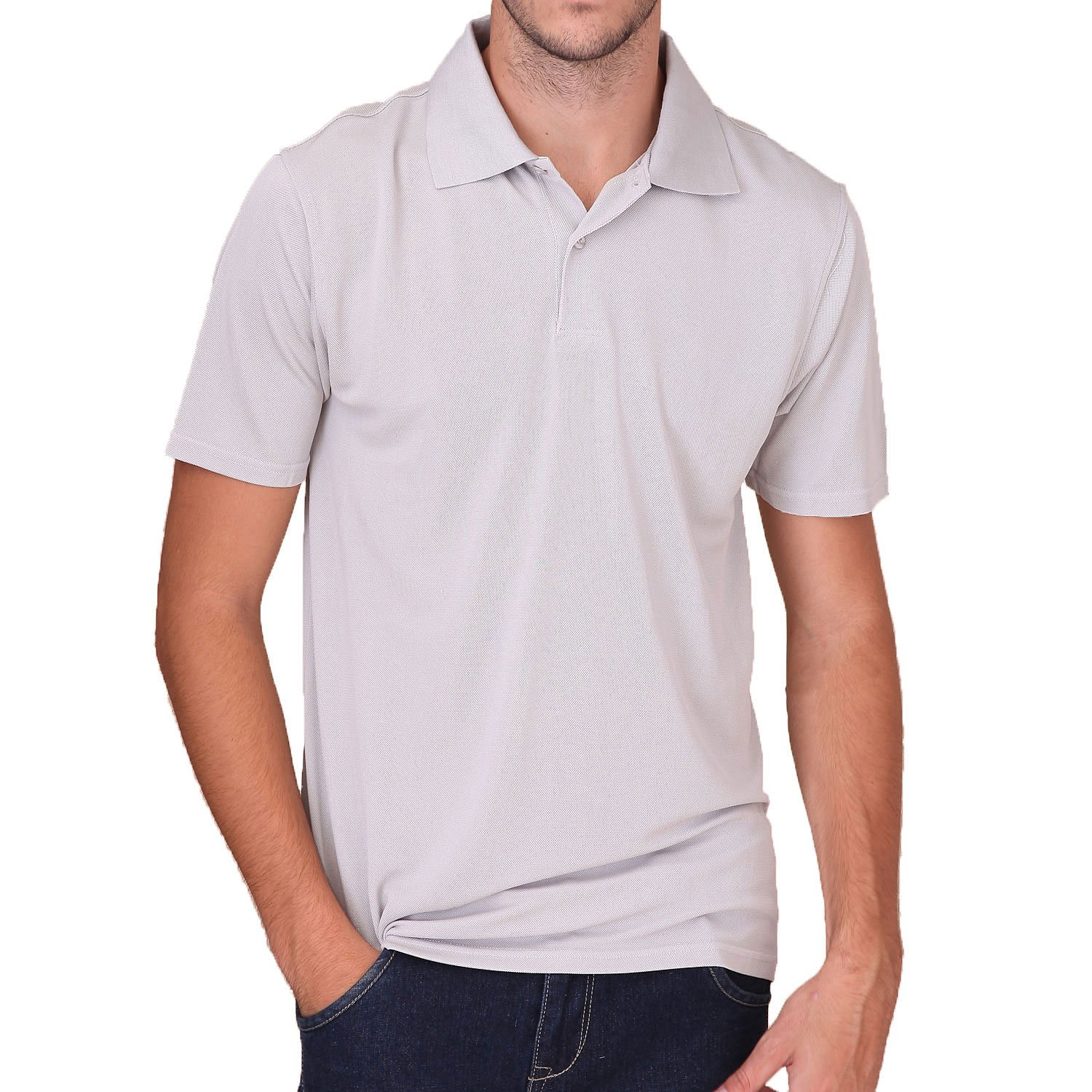 Paradise Silk Pure Silk Knit Mens Polo T-Shirt Turndown Collar Short Sleeves Solid US S M L SKMPT