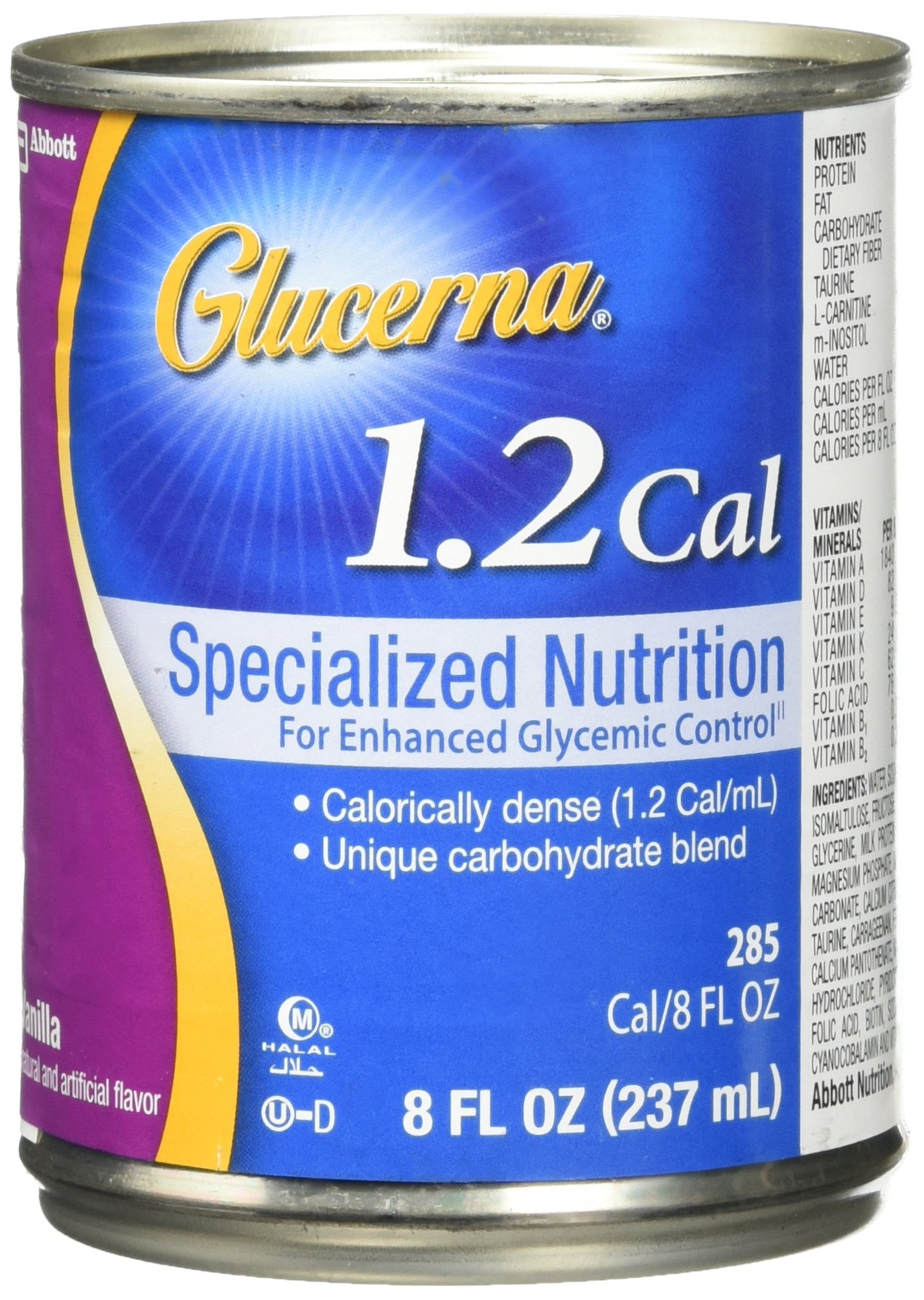 Glucerna 1.2 Cal Specialized Nutrition For Patients With Abnormal Glucose Tolerance Ready To Use, 24 - 8 Oz. Cans