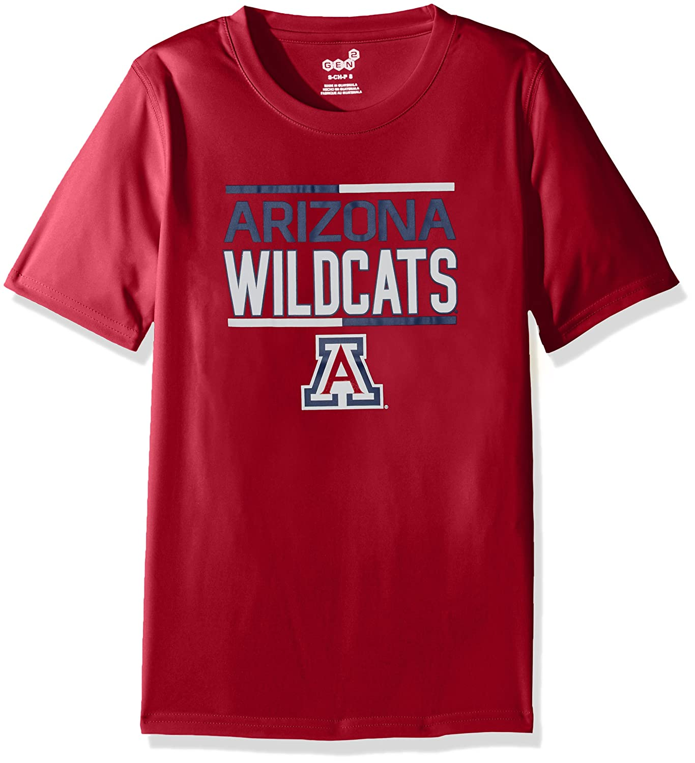 18 Dark Red Youth X-Large NCAA by Outerstuff NCAA Arizona Wildcats Youth Boys Flag Runner Dri-Tek Short Sleeve Alternate Color Tee