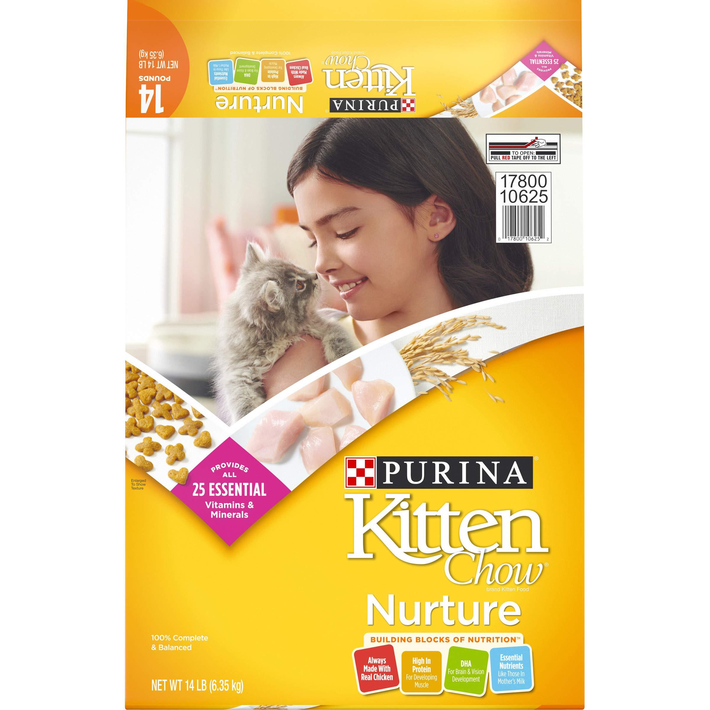 Purina Kitten Chow Dry Kitten Food, Nurture – 14 lb. Bag