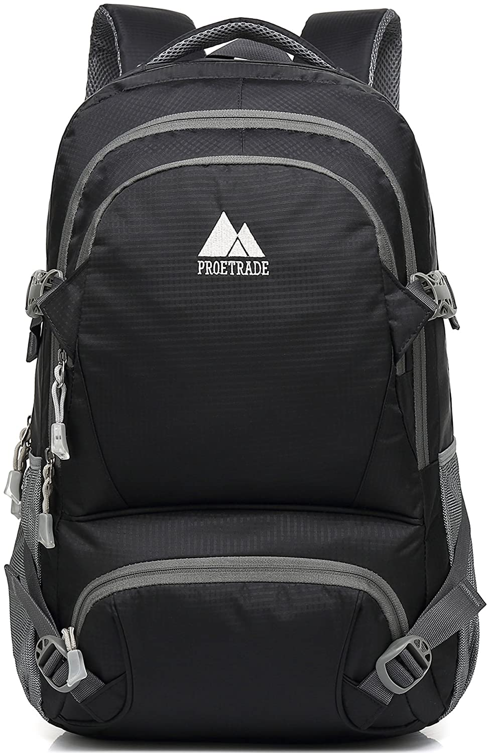 f59b889d691 Amazon.com: Extra Large School Backpack Bookbag For College Travel Hiking  Fit Laptop Up to 17 Inch (Black): ProEtrade