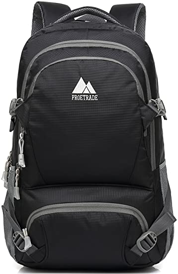 Amazon.com   Extra Large School Backpack For College Travel Hiking Fit  Laptop Up to 17 Inch Water Resistant (Black)   Backpacks 0df6bbd988