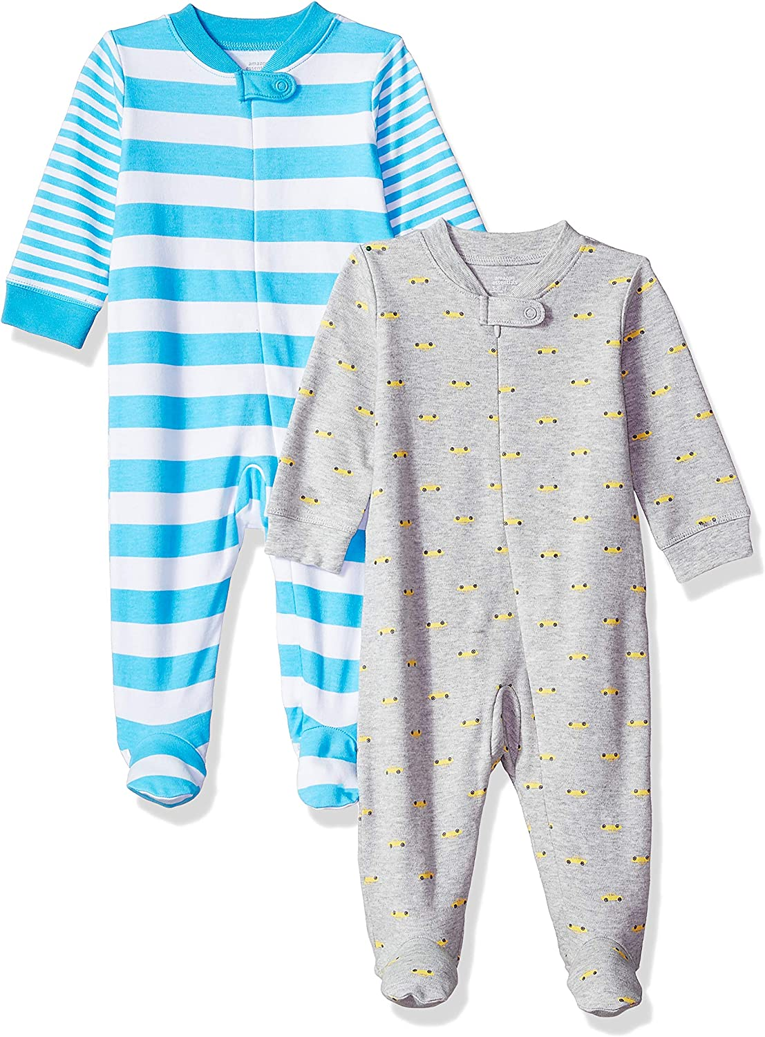 Essentials Baby Zip-Front Footed Sleep and Play