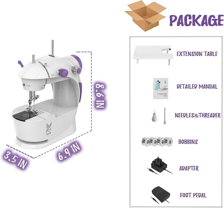 KPCB Mini máquinas de coser con pedal de pie: Amazon.es: Hogar