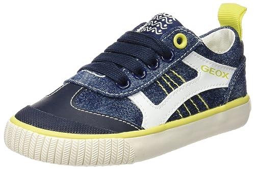 Geox Jr Kilwi Boy, Zapatillas para Niños, Azul (Navy/Lime C0749), 24 EU: Amazon.es: Zapatos y complementos
