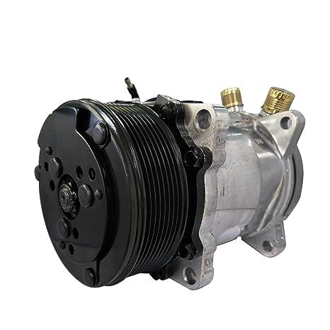 Universal a/c compresor con negro PV8 embrague Sanden 508 5h14 R134 a