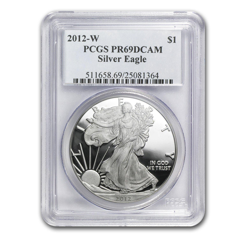 1993-P $1 American Silver Eagle 1 oz Dollar Proof PCGS PR69DCAM