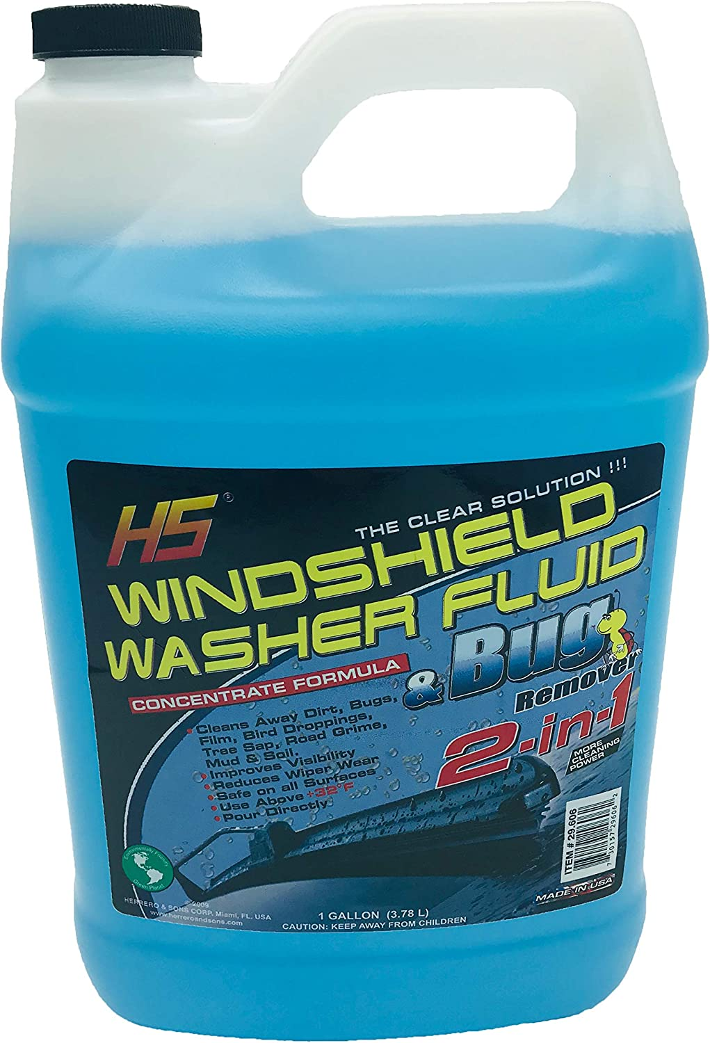 HS 29.606 Bug Wash Windshield Washer Fluid, 1 Gal (3.78 Liters)