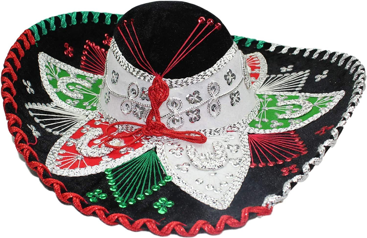 Authentic Mariachi Sombrero Flowers Style Fancy Premium Mexican Sombrero Hat Made in Mexico Choose Size /& Color