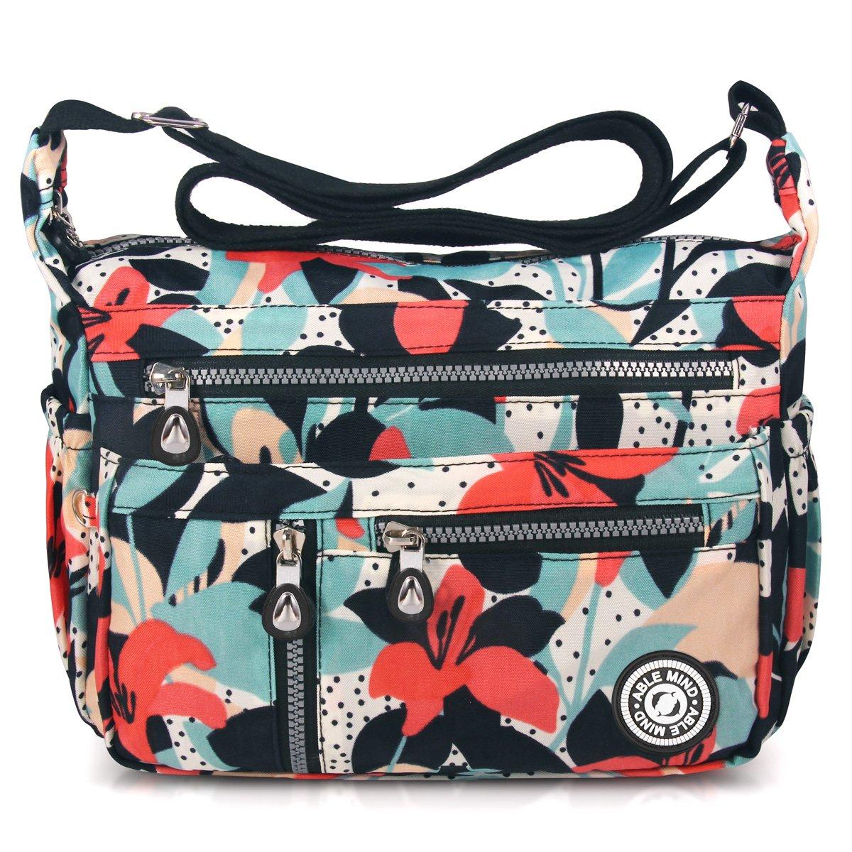 ABLE anti-splash water Shoulder Bag Casual Handbag Messenger bag Crossbody Bags (4-Calla flower)