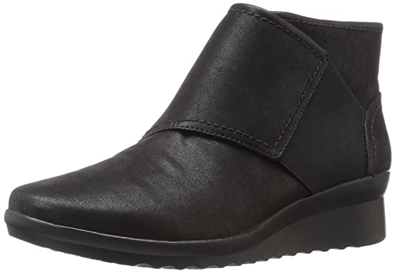 Clarks Women's Caddell Rush Boot Black Women's Shoes at amazon