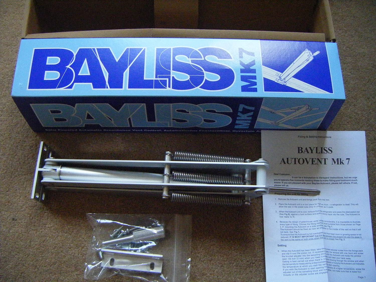 Bayliss Mk.7 Triple Spring Orchid Wax Variant (high temperature opening version)