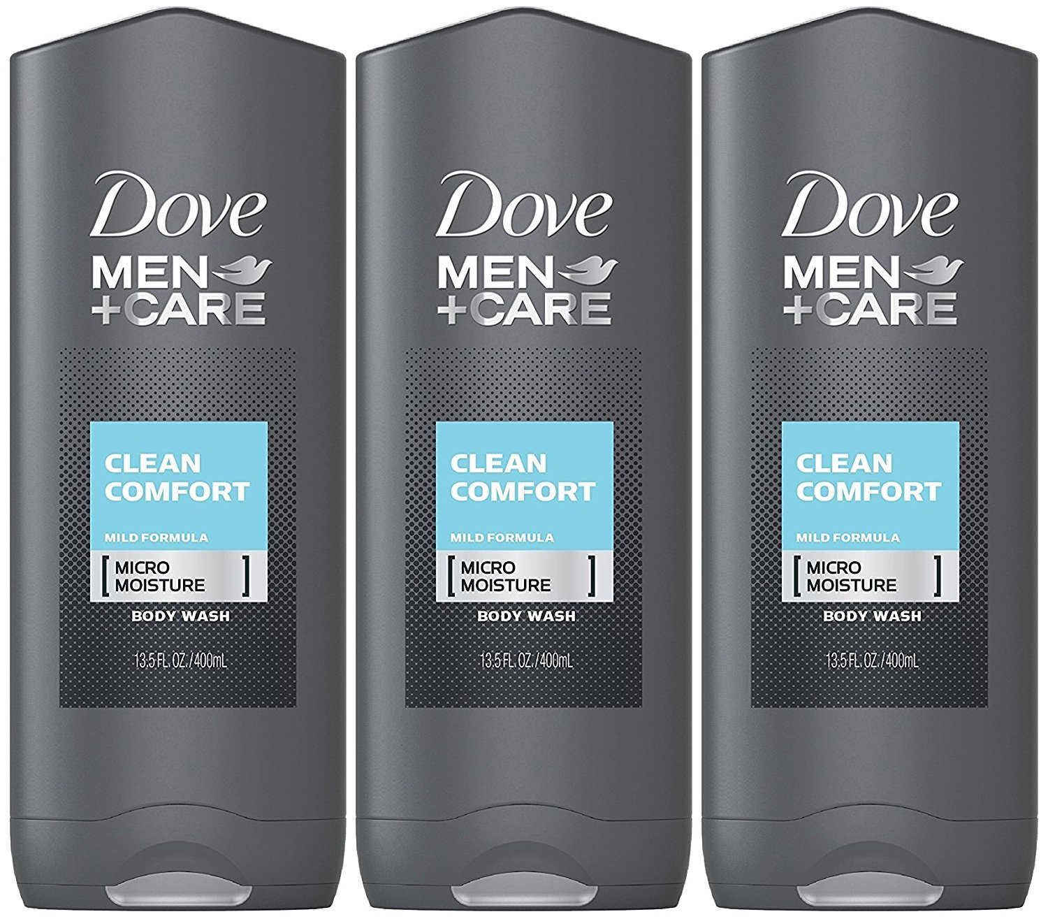 Dove Men + Care Body & Face Wash, Clean Comfort 13.50 oz ( Pack of 3) by Dove