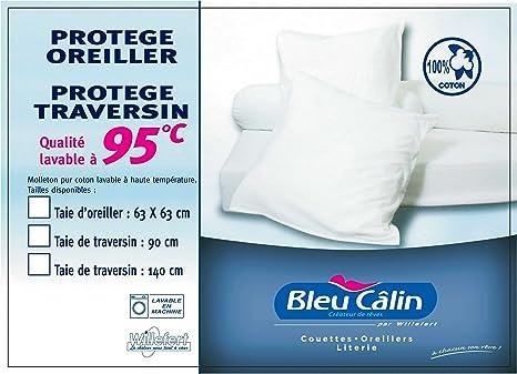 Blanco Confort Alaska 90 cm PCPI Bleu C/âlin Almohada Cil/índrica