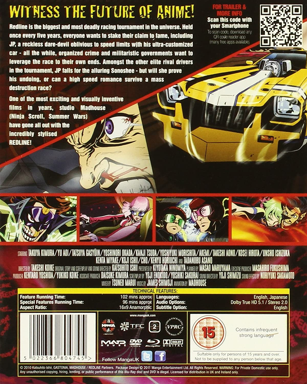 Redline Blu Ray Dvd Double Play Movies Tv Trailer Wiring Color Code Ireland
