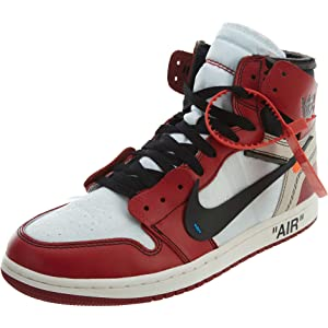 Jordan The 10  Air 1 - AA3834 101 White Black-Varsity Red 9c8b438d3
