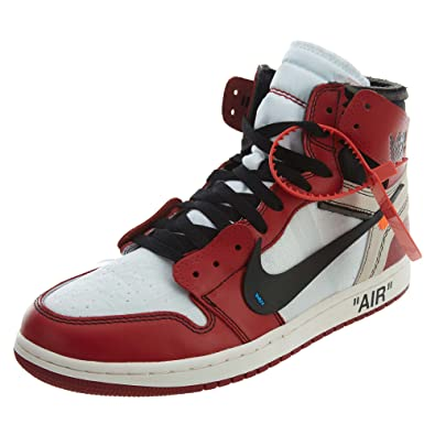 Image Unavailable. Image not available for. Color  Jordan The 10  Air 1 -  AA3834 101 White Black-Varsity Red 29d98d257