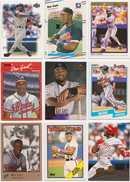 Ron Gant 50 Different Baseball Cards Featuring Ron Gant No