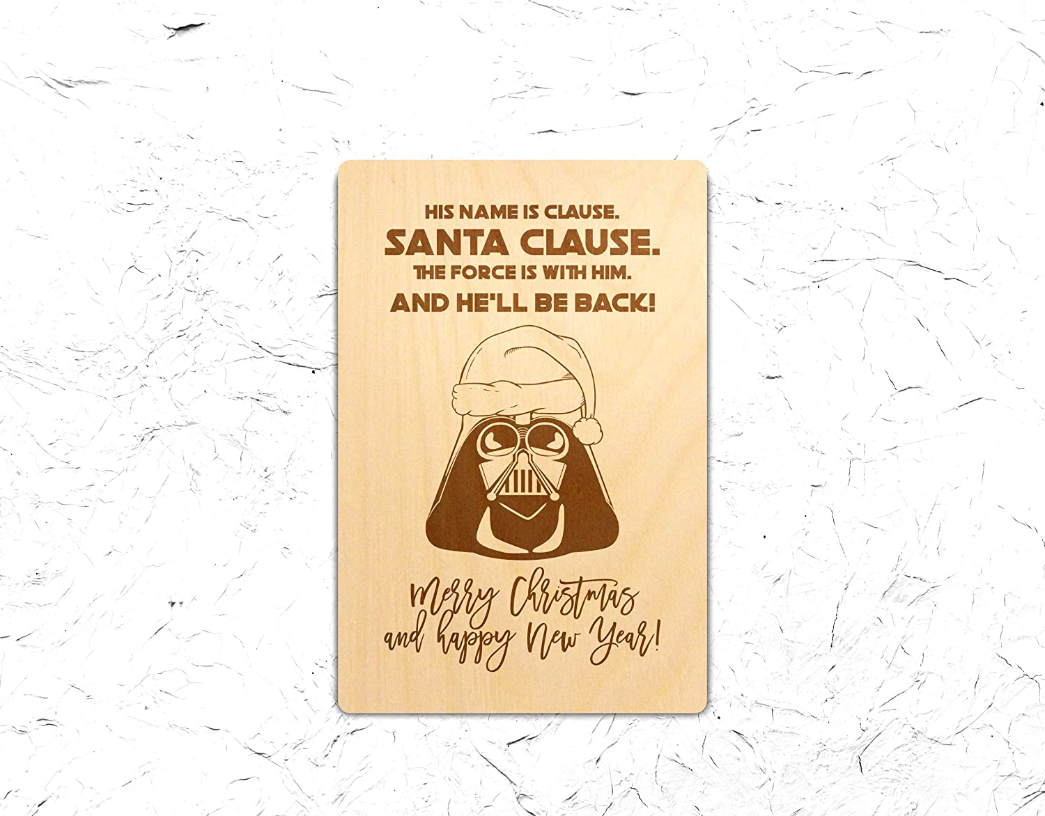 Amazon Com Christmas Funny Greeting Card Wooden Gift Idea