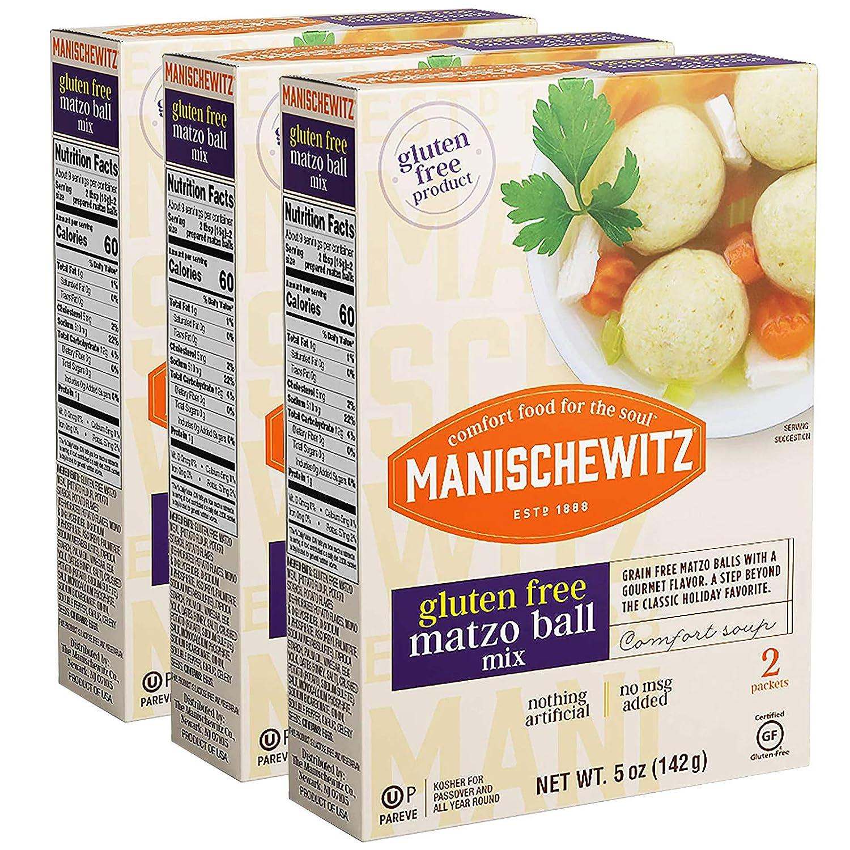 Manischewitz Gluten Free Matzo Ball Mix, 5 Ounce (Pack of 3) Easy to Prepare, Delicious & Authentic Matzo Balls