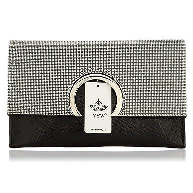 ff817d9f3f KAMIERFA Metallic Cross Body Bags Designer Handbags for Women Evening  Clutch Bag PU Leather with Chain Strap
