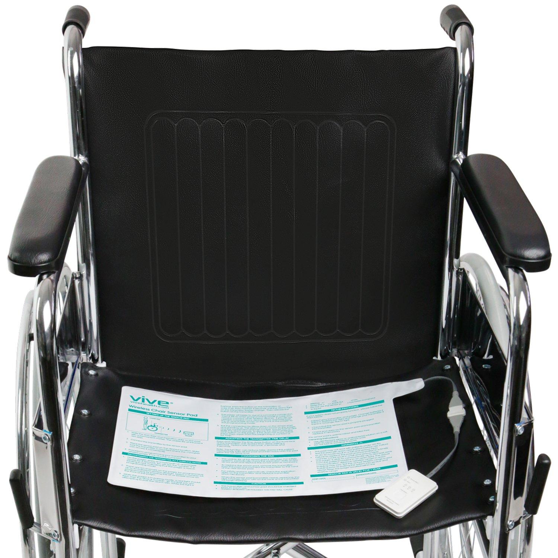 Vive Wireless Chair Alarm - Wheelchair Health Safety Seat Sensor Kit for Elderly, Senior, Dementia Patient - Weight Movement Pressure Pad Detector - Nurse, Caregiver, Caretaker Aid - Home Alert System