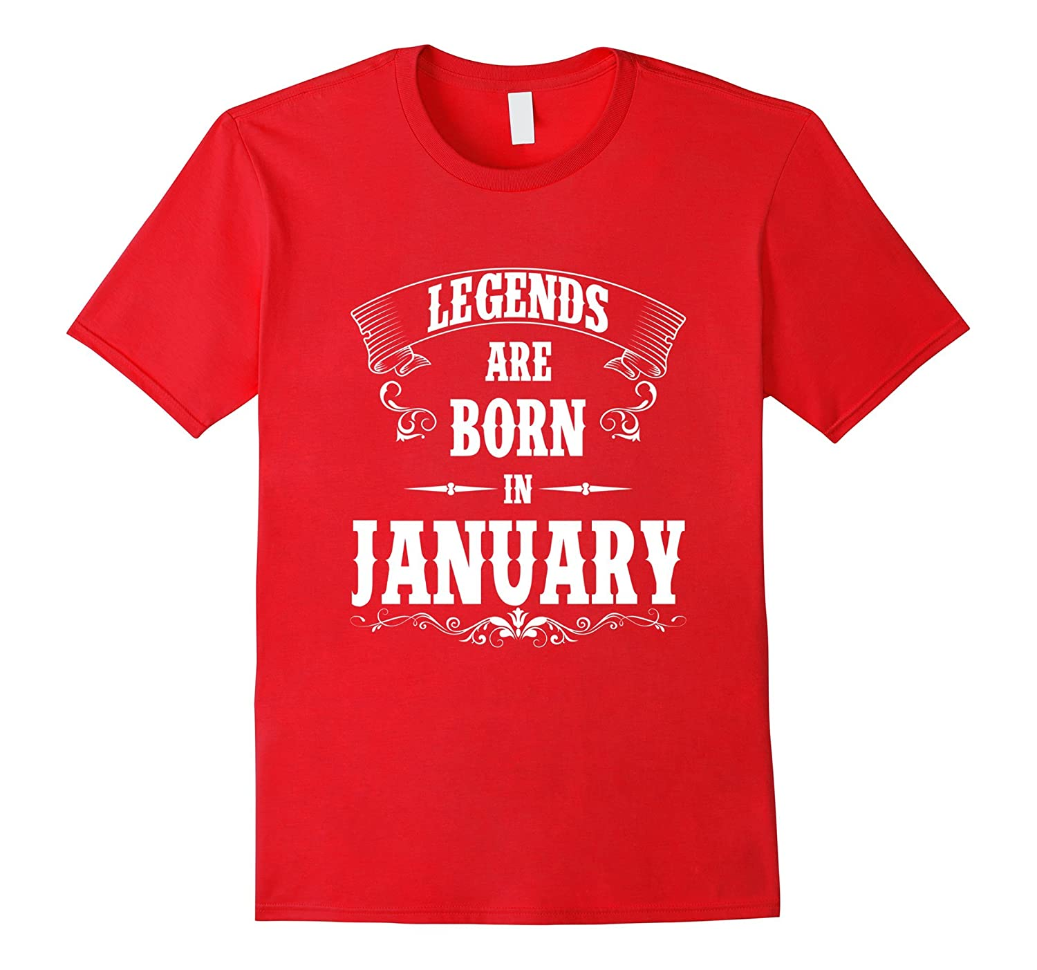 Legend Are Born In January Premium Edition T-shirt-RT