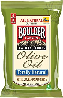 product image for Boulder Canyon Olive Oil Totally Natural Kettle Chips, 5-Ounce Bags (Pack of 12)