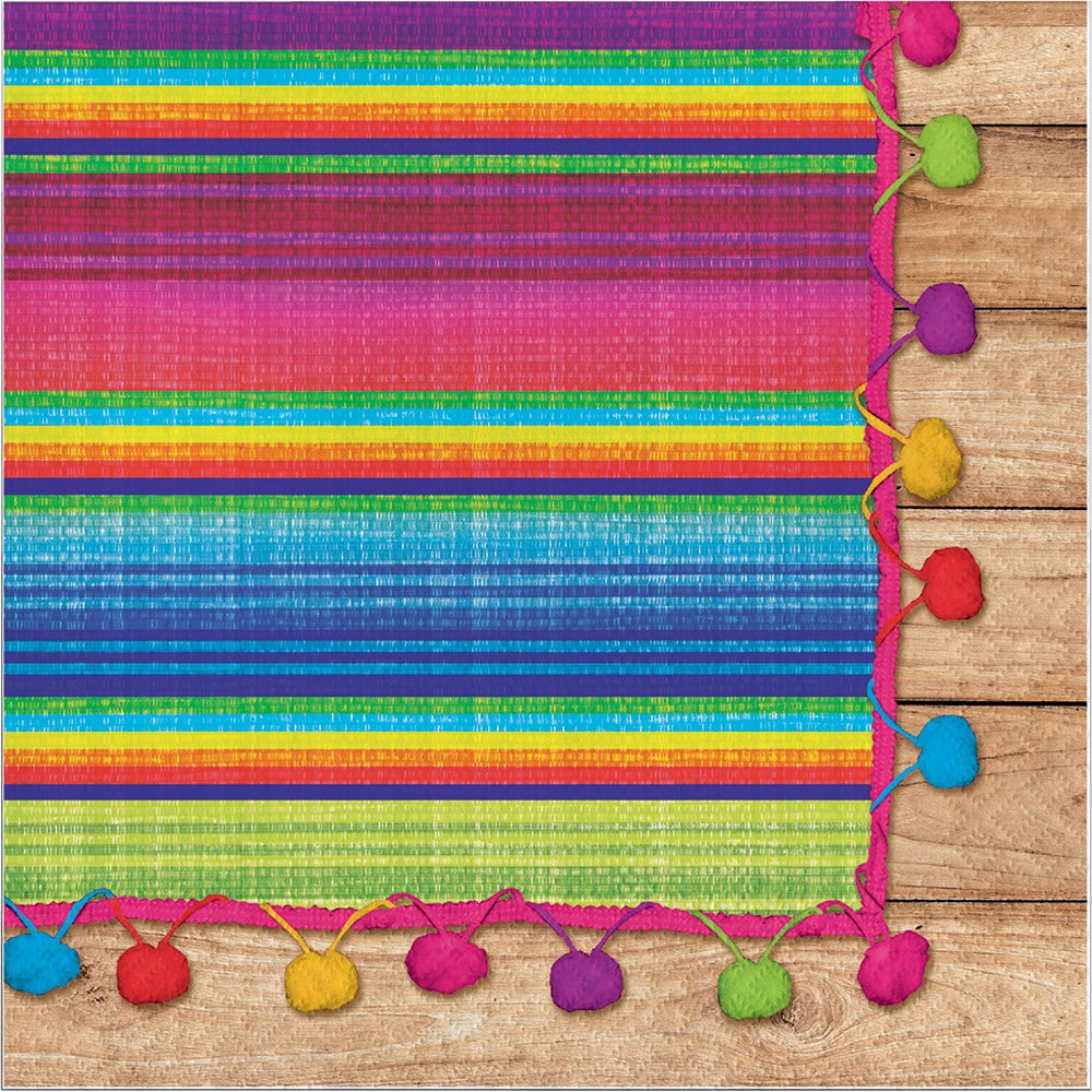 Creative Converting 322289 192 Count Lunch Paper Napkins, Serape by Creative Converting