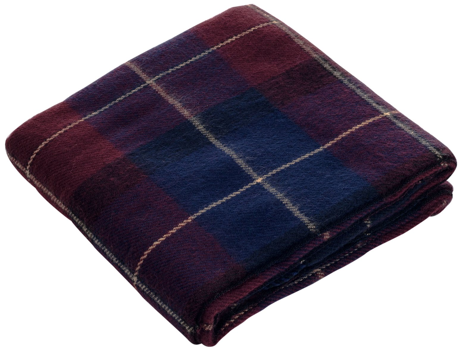 Lavish Home Throw Blanket, Cashmere-Like, Blue/Red - Material: 100% Acrylic Pattern: Plaid Style: Cashmere-like - blankets-throws, bedroom-sheets-comforters, bedroom - 81a%2BJALpyeL -