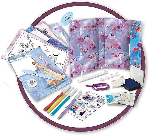 1 Stylo avec pompon inclus FRG13 Coffret Journal Intime avec Cadenas et Accessoires La Reine des Neiges 2 Jouet pour Enfants d/ès 3 Ans