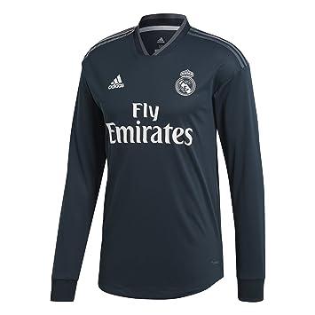 Adidas Real A JSY AU L - Camiseta Manga Larga 2ª equipación Real Madrid, Hombre, Gris(ÓNITÉC/ONIFUE/Blanco): Amazon.es: Deportes y aire libre