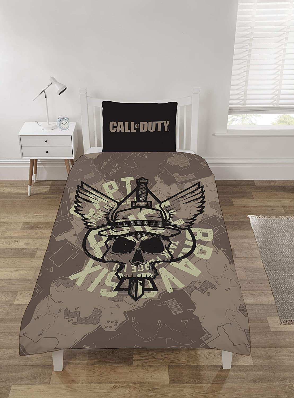 Coco Moon Cod Call Of Duty Playstation Juego de cama para cama individual o doble dise/ño de Call of Duty Edred/ón doble