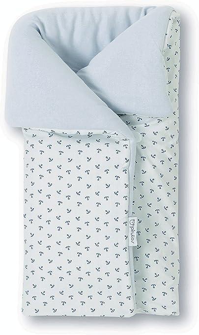 Pirulos 39213320 - Saco arrullo, diseño pirate, algodón, 50 x 82 cm, color blanco y gris: Amazon.es: Bebé