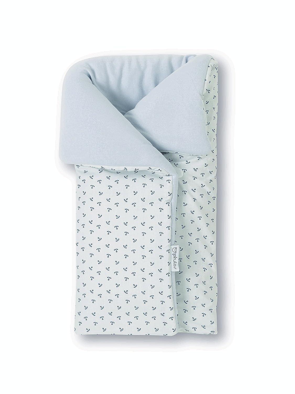 Pirulos 39213320 - Saco arrullo, diseño pirate, algodón, 50 x 82 cm, color blanco y gris