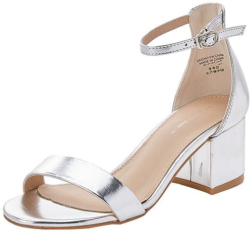 Springfield 9883193, Sandalias con Punta Abierta para Mujer, (Gamma Grises), 38 EU: Amazon.es: Zapatos y complementos