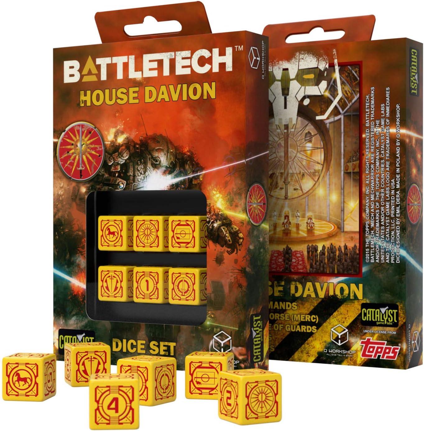 Q WORKSHOP Battletech House Davion RPG Dice Set 6 x D6