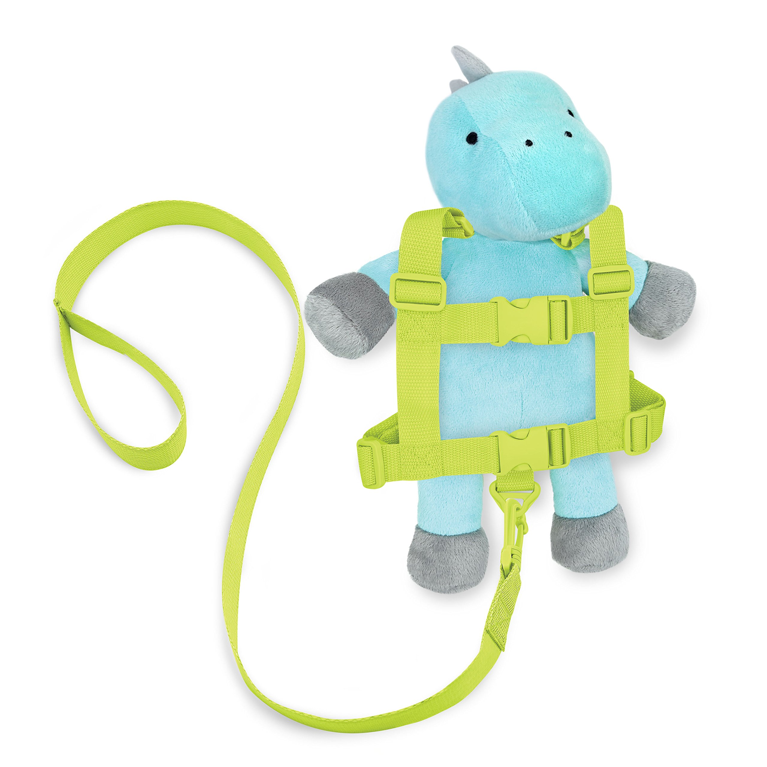 Travel Bug Toddler 2-in-1 Safety Harness, Dinosaur- Teal/Grey
