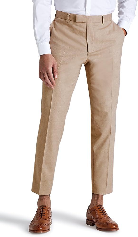 Moss London - Pantalón de traje - para hombre Beige beige XXXL ...