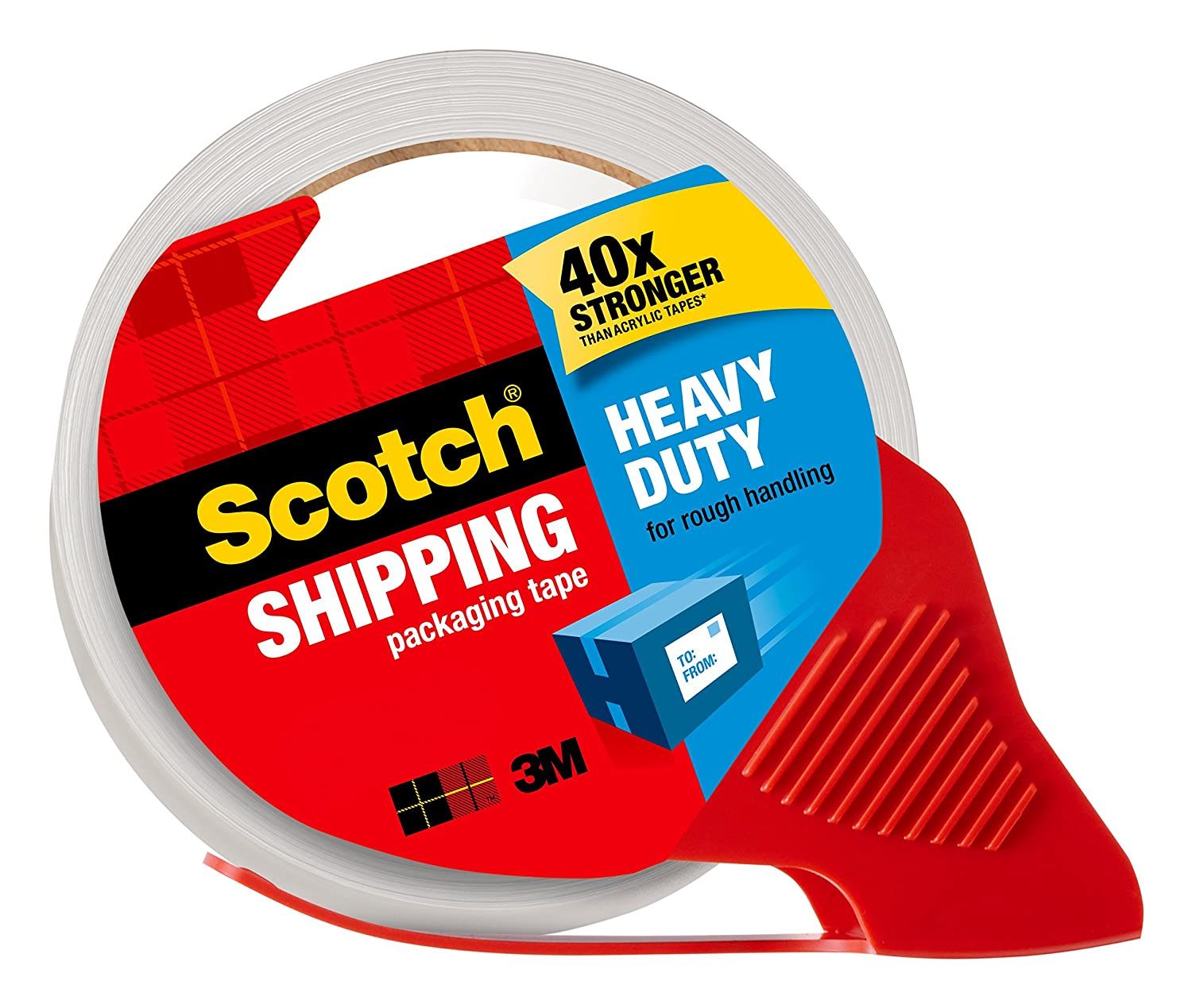Scotch 3850-6-ESF Heavy Duty Shipping Packaging Tape, 48mm x 50m, 6 Rolls 3M Canada Company - CE/Office