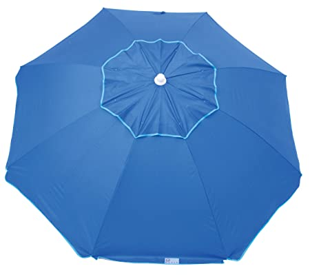 Rio Beach 6 1 2 Integrated Sand Anchor Umbrella, Blue