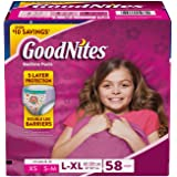GoodNites Bedtime Underwear for Girls (Size L/XL, 58 ct.)