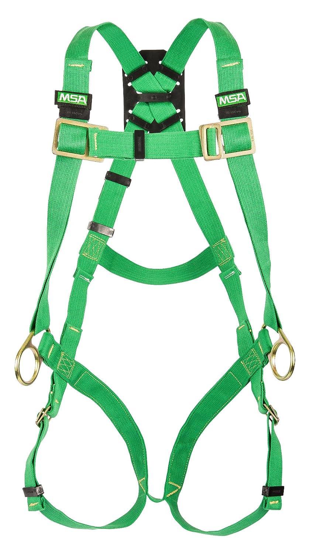 MSA Safety 10020065 THERMATEK soldador de arnés, espalda y la cadera anillas, qwik-fit piernas y pecho correas, verde Nomex de Kevlar tejido, ...