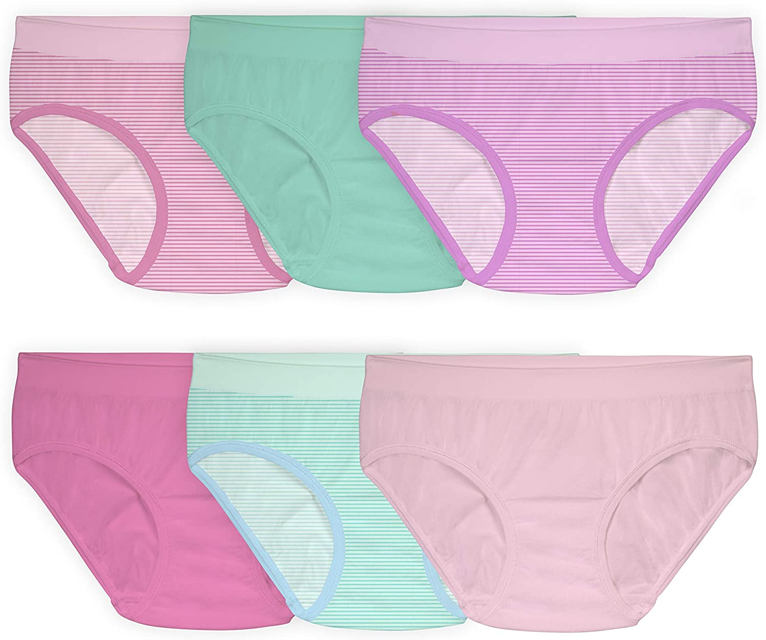 Fruit of the Loom Girls' Seamless Underwear Multipack: Clothing