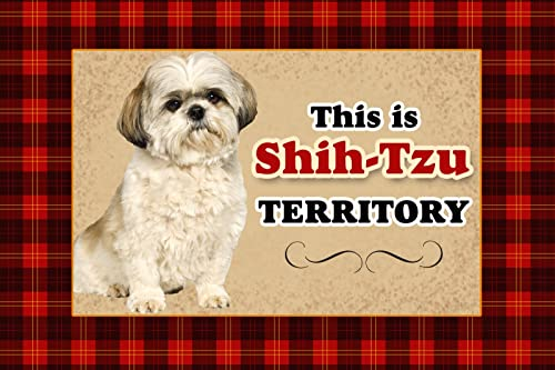 Novelty Dog Territory Mat, 18 by 27-Inch, Shih Tzu