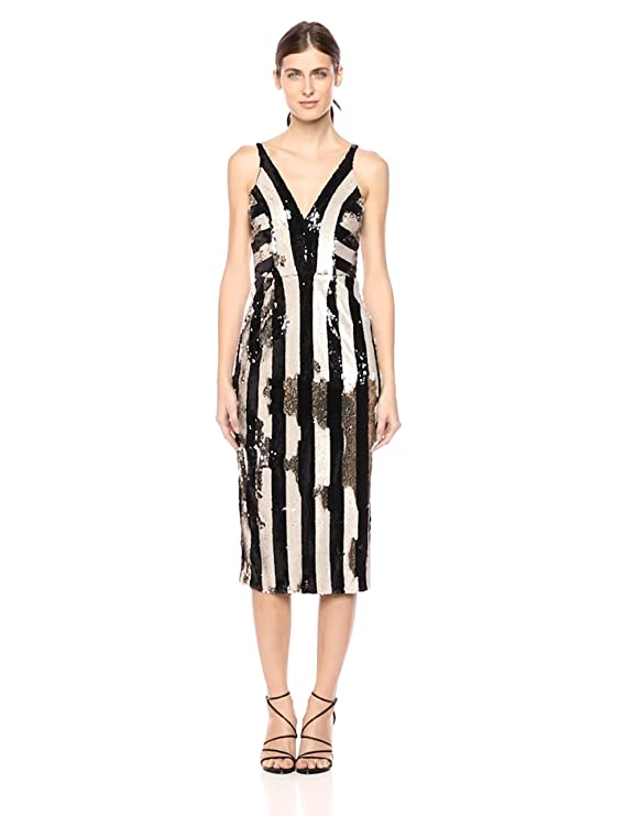 Dress the Population Women s Margo Sleeveless Sequin Stretch Midi Dress at  Amazon Women s Clothing store  efb05491e