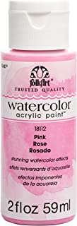 product image for FolkArt Watercolor Acrylic Paint, 2 oz, Pink