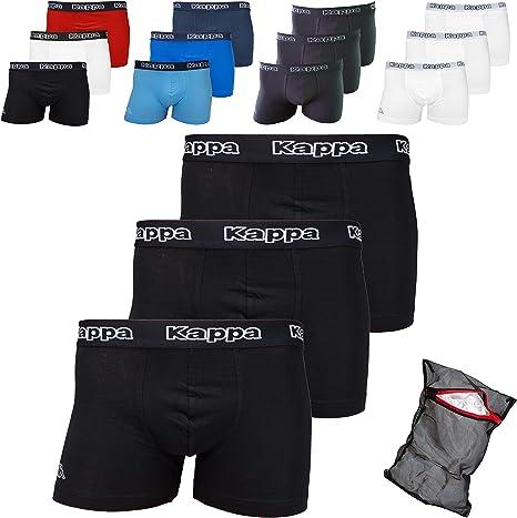 TALLA 4XL. Kappa ZiATEC Edition - Calzoncillos tipo bóxer para hombre, S-XXXXXL, con práctica malla de lavado, paquetes de 3, 6 y 9 unidades, ropa interior para hombre
