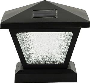 Moonrays 90043 Solar Metal Post Path Light, 5 lm, Black