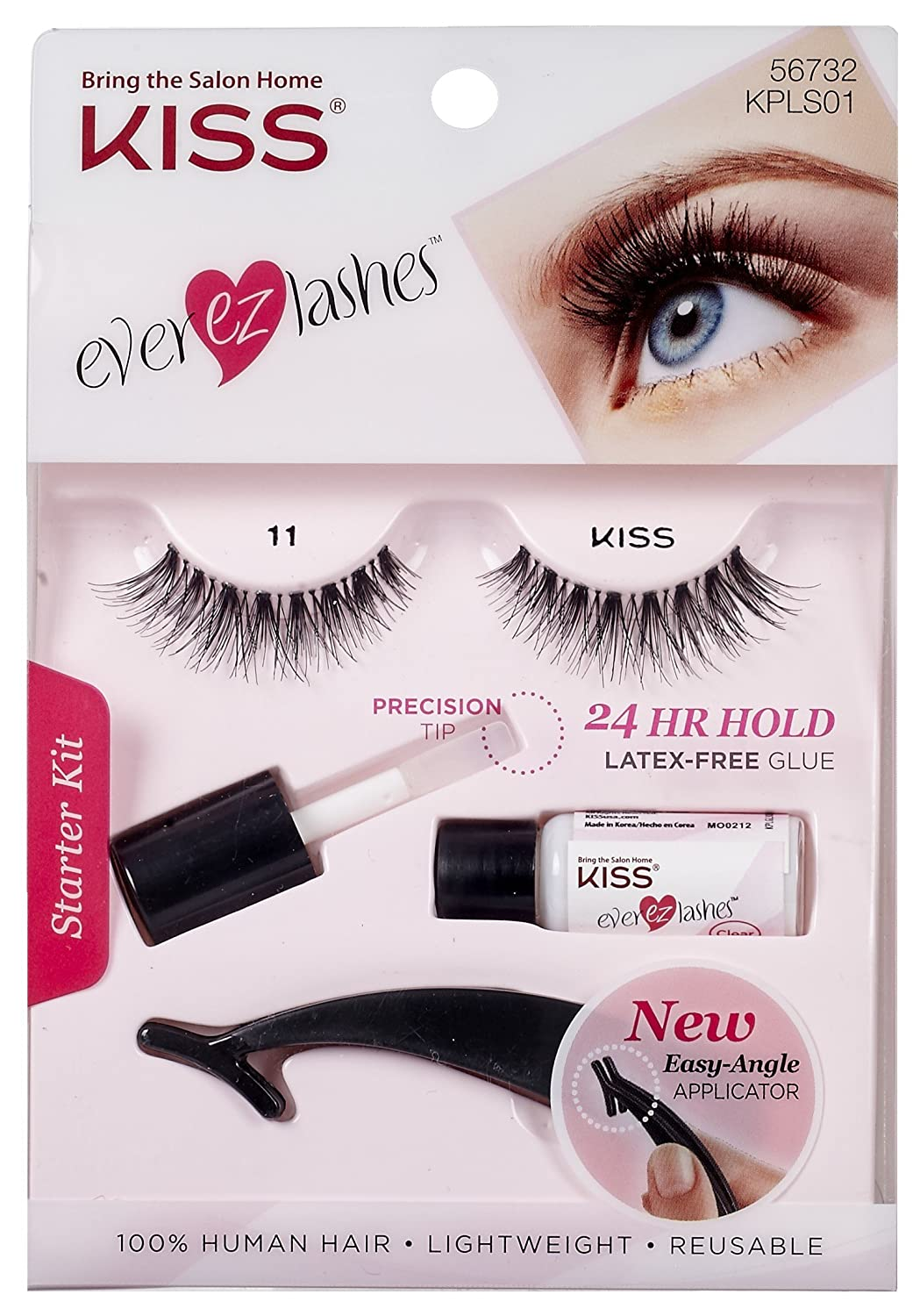 15b63607631 Amazon.com : Kiss Ever Ez 11 Lashes Starter Kit (2 Pack) : Beauty